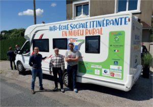 First itinerant driving school in rural territory in France